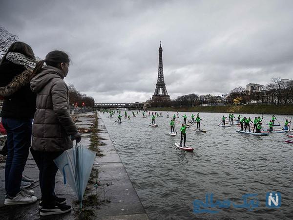 دیدنی های جذاب روز – دوشنبه ۱۸ آذر! از مسابقه پاروزنی پاریس تا پیروزی آنتونی جاشوا