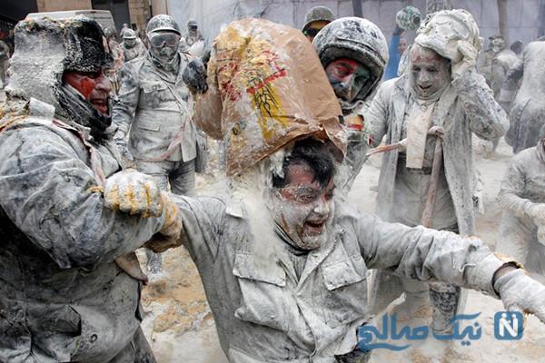 دیدنی های جذاب روز – دوشنبه ۹ دی! از حمله به خاخام نیویورکی تا نبرد آرد و تخم مرغ