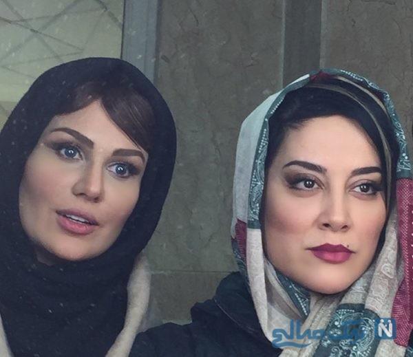محسن افشانی و همسرش