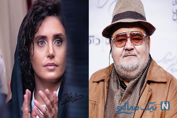 اکبر عبدی و همسرش تا الناز در جشن منتقدان و بازیگر فرانسوی (۸۷۹)