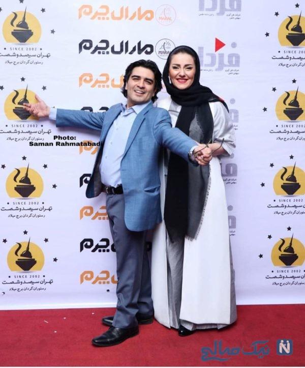 سامان احتشامی و همسرش