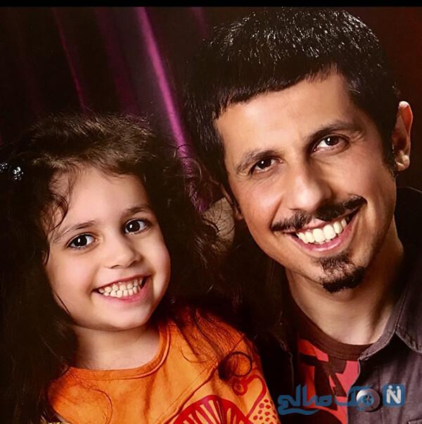 جواد رضویان و دخترش
