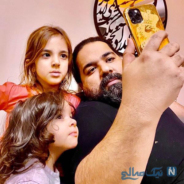 عاشقانه رضا صادقی و همسرش تا تولد خواهر مریم معصومی