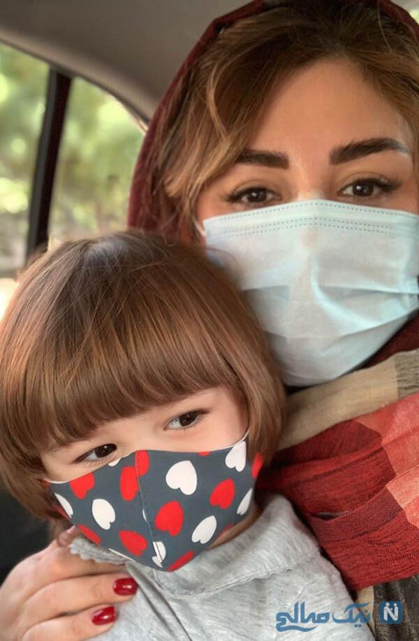نیوشا ضیغمی و دخترش