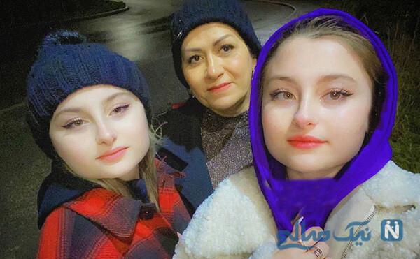 سارا و نیکا با مادرشان