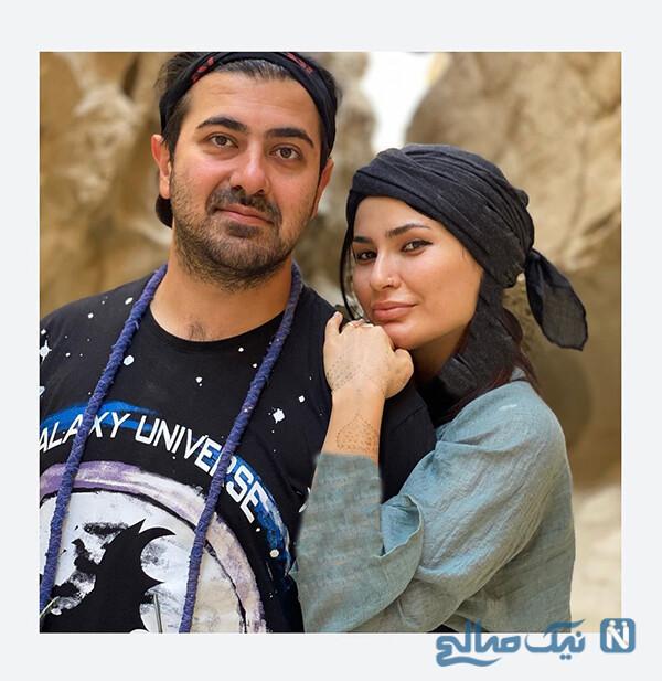 شیوا طاهری و همسرش
