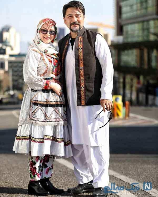 امیرحسین صدیق با همسرش