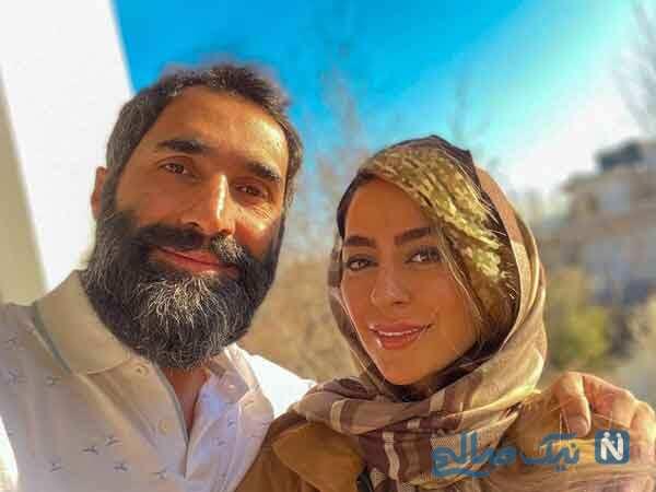 سمانه پاکدل با همسرش
