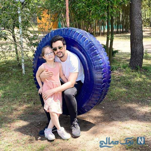 شاهرخ استخری و دخترش پناه