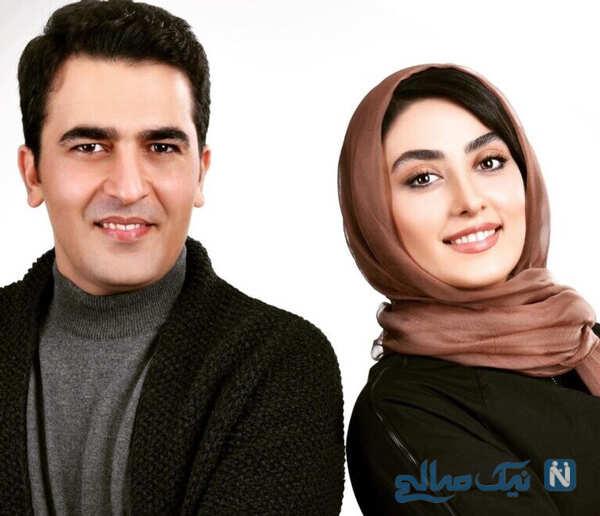 الهام طهموری با همسرش