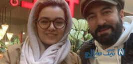 مجید صالحی و همسرش به وقت تولد دوقلوها با عاشقانه نگین معتضدی