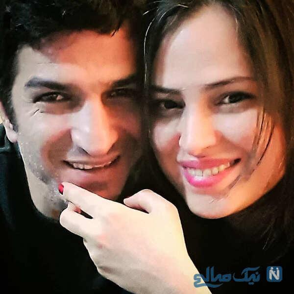 شیرین اسماعیلی با همسرش