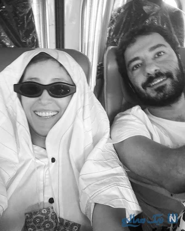 نوید محمدزاده و همسرش
