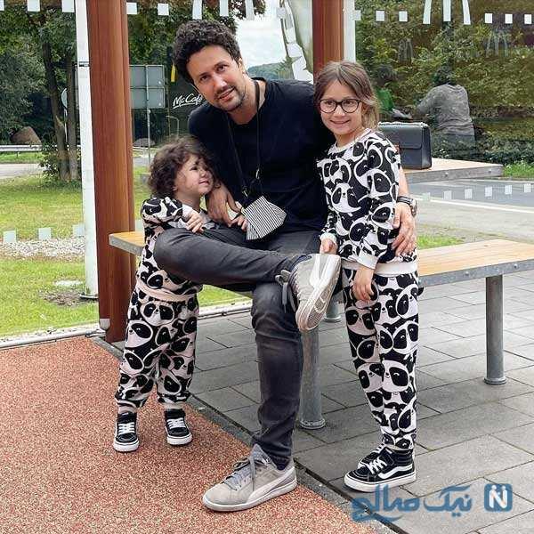 شاهرخ استخری با دخترانش