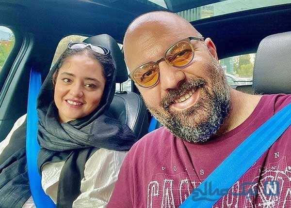 سالگرد ازدواج علی اوجی و نرگس محمدی با کودکی فرزاد حسنی