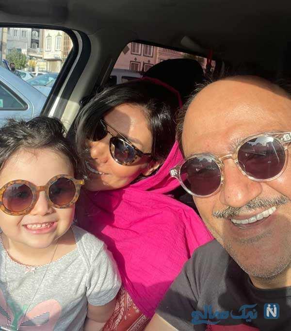 مهران غفوریان و همسر و دخترش هانا