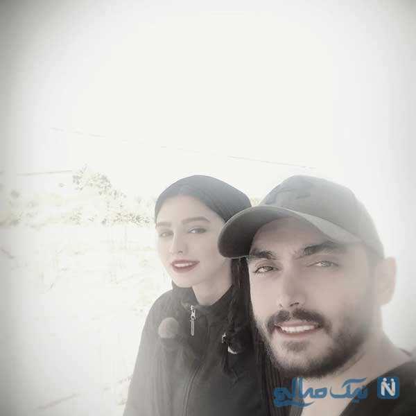 سیما خضرآبادی با همسرش