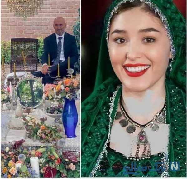 تصویری از لباس عروسی فرشته حسینی