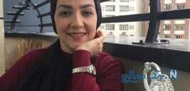 سارا صوفیانی و همسرش تا شاهرخ استخری در زیر درخت با قند بابا