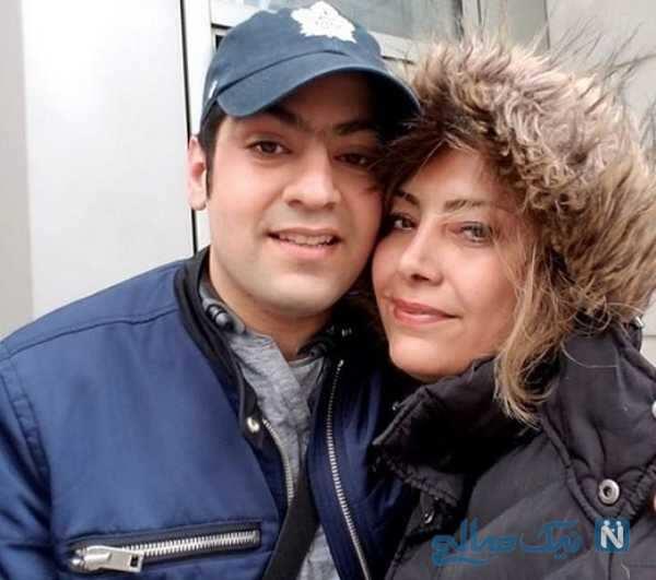 سلفی خانم بازیگر با پسرش