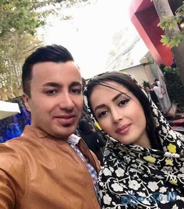 لیلا سعیدی مجری تلویزیون و همسرش