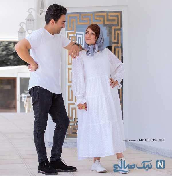 ست لباس الهام طهموری و همسرش