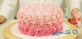 کیک شکلاتی محبوب با خامه های رنگی!