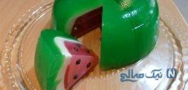روش درست کردن ژله به شکل هندوانه +عکس