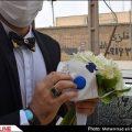 مراسم عروسی در میان گرد و غبار