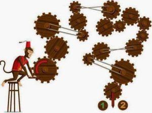 تست هوش تصویری میمون بازیگوش و چرخ دنده ها!