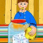 نان را پشت در می مالند ، ضرب المثلی برای افراد خسیس