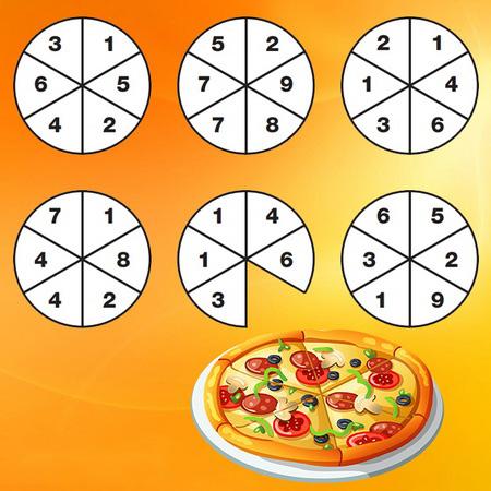 تست هوش پیتزاها و اسلایس خورده شده ، عدد این اسلایس، چند بوده؟