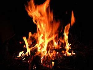 برای یک دستمال قیصریه ای را آتش می زند