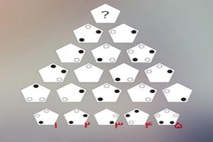 تست هوش تصویری پنج ضلعیهای خالدار