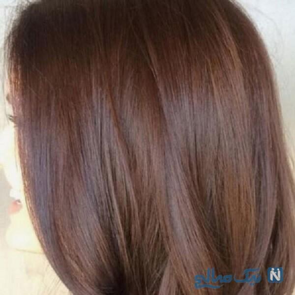 ترکیب رنگ موی قهوه ای