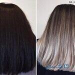موی مشکی پرکلاغی شده را چگونه رنگ کنیم