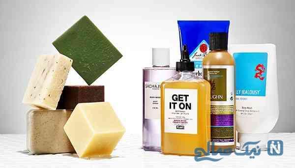 صابون یا شامپو بدن