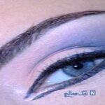 یک مدل آرایش چشم بسیار شیک و ساده/تصویری