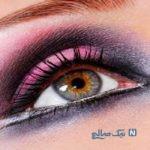 مدل آرایش چشم رنگ بنفش