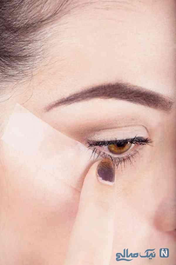 خط چشم با چسب مایع