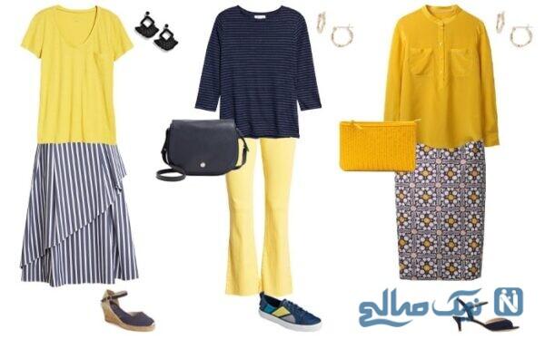 تاثیر رنگ زرد در لباس