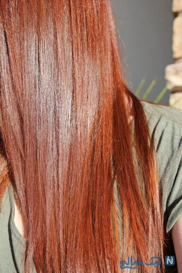 رنگ موی قهوه ای گیاهی