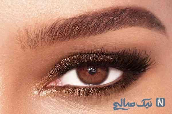 آرایش چشم مسی مخصوص چشم های قهوه ای
