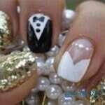 تصاویر زیباترین طراحی ناخن عروس