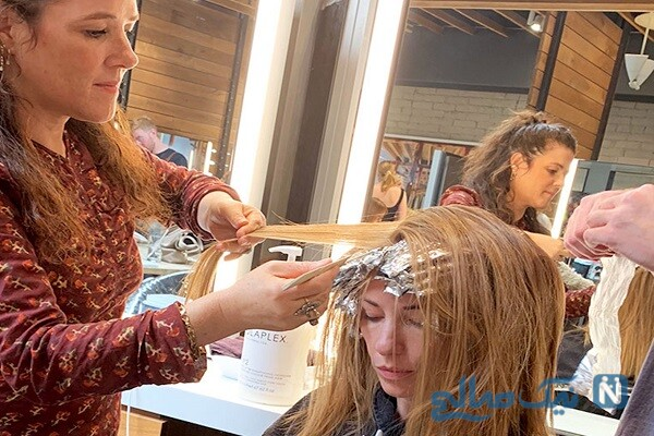 فاصله های دکلره کردن مو را زیاد کنید