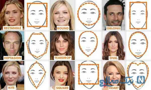 مدل مو و فرم صورت