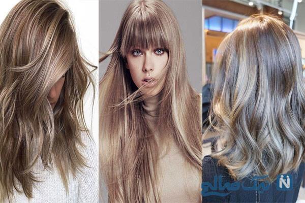 موی روشن بدون دکلره