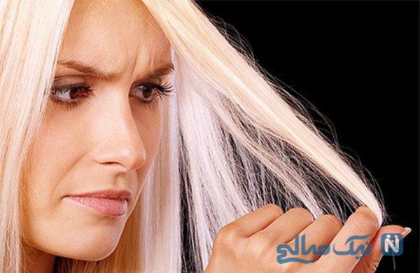 ماسک مو برای موهای آسیب دیده از دکلره