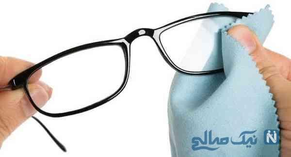 لکه های عینک