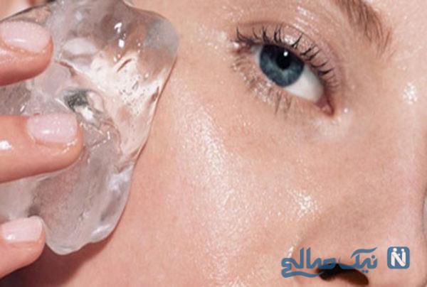 معجزه ماسک یخ برای شادابی و جوانی پوست